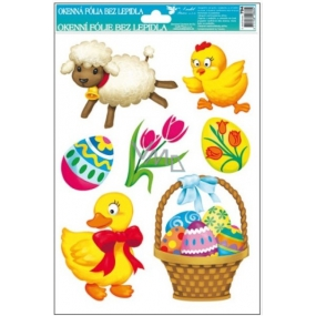 Room Decor Window foil without glue Easter with basket 30 x 20 cm