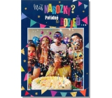 Albi Envelope Playing Card Happy Birthday Blowing confetti Happy 14.8 x 21 cm