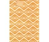 Nekupto Gift paper bag large 32,5 x 26 x 13 cm Orange patterns 1625 01 KFL
