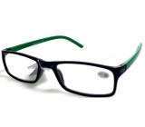 Glasses diop.plast. + 2,5 black green side MC2 ER4045