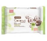 Nuagé Skin Coconut Water Wet Facial Wipes 25 pieces
