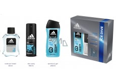 Adidas Ice Dive AS 100 ml mens aftershave + 250 ml shower gel + 150 ml deodorant spray, cosmetic set