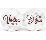 Nekupto Double Cork Coaster Vodka and Juice 19 x 9.5 x 0.3 cm