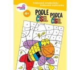 Ditipo Coded coloring book by numbers for children 4+ 32 pages