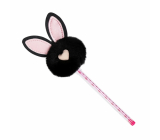 Albi Ballpoint pen with pompom Black bunny