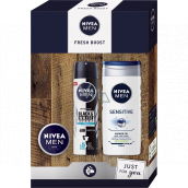 Nivea Men Fresh Boost antiperspirant deodorant spray 150 ml + shower gel 250 ml + cream 30 ml, cosmetic set for men