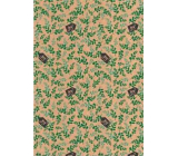 Ditipo Gift wrapping paper 70 x 200 cm Christmas KRAFT green blouse