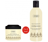 Ziaja Argan oil smoothing treatment hair mask 200 ml + hair shampoo 300 ml, duopack