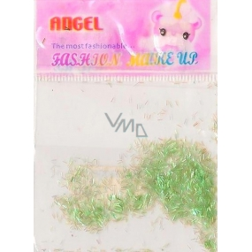 Angel nail decorations ribbons green 2 g