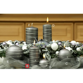 Lima Galaxy candle gray cylinder 60 x 120 mm 1 piece