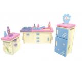 Wooden puzzle furniture for dolls Kitchen 20 x 15 cm