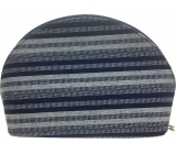Etue Fabric dark blue and white strip 15 x 10 x 5 cm 70390
