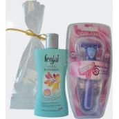 Fenjal Vitality sprchový krém 200 ml + Rica Silk Touch holící strojek 1 kus + náhradní hlavice 3 kusy, kosmetická sada