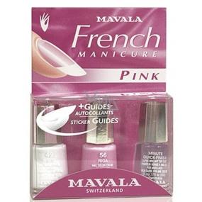 Mavala French Manicure Pink francouzská manikúra lak na nehty 3 x 5 ml