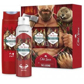 Old Spice BearGlove shower gel 250 ml + deodorant spray 150 ml, cosmetic set for men