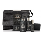 Castelbel Black Edition shower gel 100 ml + Eau de Toilette 10 ml + Body Lotion 100 ml + Toilet soap 40 g + Towel 30 x 32 cm + Closing cover Travel set for men
