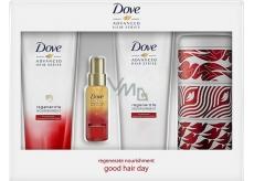 Dove Advanced Hair Shampoo 250 ml + Conditioner 250 ml + Oil Serum 50 ml + can, cosmetic set