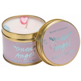 Bomb Cosmetics Snow Angel Scented natural, handmade candle in a tin jar burns up to 35 hours