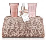 Baylis + Harding Jojoba Silk and Almond Oil Shower Gel 100 ml + Hand & Body Milk 100 ml + Body Spray 100 ml + Pink Frosted Handbag, Cosmetic Set