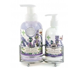 Michel Design Works Lavender, rosemary foaming liquid hand soap 530 ml + hand and body lotion 236 ml, cosmetic set