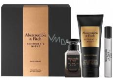 Abercrombie & Fitch Authentic Night Man eau de toilette for men 100 ml + shower gel 200 ml + eau de toilette 15 ml, gift set