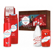 Old Spice White Water Wooden antiperspirant deodorant stick 50 ml + deodorant spray 150 ml + shower gel 250 ml + aftershave 100 ml + socks + wooden box, cosmetic set for men