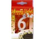 Happy light Cake candle number 6 in a box