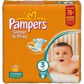Pampers Sleep & Play 3 Midi 4 - 9 kg diapers 100 pieces