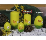 Lima Spring motif candle yellow cylinder 50 x 100 mm 1 piece