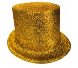 Carnival top hat 25 cm gold