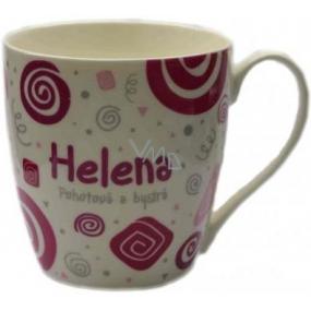 Nekupto Twister mug named Helena pink 0.4 liter