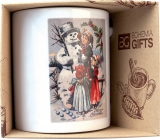 Bohemia Gifts Ceramic mug with a picture of a snowman 350 ml