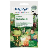 Tetesept Raubí Bath pearls amazing water color, effect with glitter and extra long cracking with fruity apple scent for boys 50 g