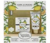 Jeanne en Provence Verveine Cédrat - Verbena and Citrus fruits perfumed water for women 60 ml + toilet soap soap 100 g + hand cream 75 ml, cosmetic set