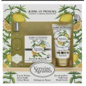 Jeanne en Provence gift set of Verbena and lemon (EDP perfume water + soap + hand cream)