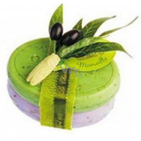 Le Chatelard Lavender toilet soap 100 g + Olive leaves toilet soap 100 g, cosmetic set