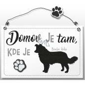 Nekupto Hafani wooden sign Border Collie 155 x 98 x 5 mm