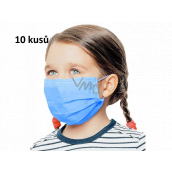 3-layer protective medical non-woven disposable, low respiratory resistance for children 10 pieces deep blue without print
