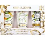 Jeanne en Provence Jasmin Secret hand cream + Verveine Agrumes hand cream + Divine Olive hand cream 3 x 75 ml, cosmetic set