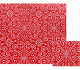 Nekupto Gift wrapping paper 70 x 150 cm Red with white ornaments