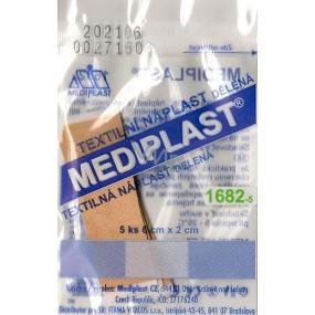 Mediplast textile patch divided 6 cm x 2 cm 5 pieces