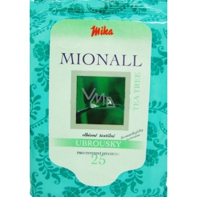 Mika Mionall Tea Tree wet wipes for intimate hygiene 25 pieces