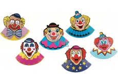 Carnival hat with clown 6 pcs