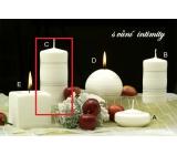Lima Zimní třpyt Intimity vonná svíčka válec 60 x 120 mm 1 kus