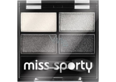 Miss Sports Studio Color Quattro Eyeshadow 404 Real Smoky / Smoky Black 3.2 g