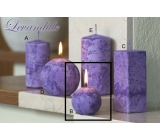 Lima Marble Lavender scented candle purple ball diameter 60 mm 1 piece