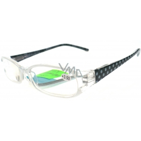 Berkeley Reading glasses + 3.50 white polka dots CB02 1 piece MC2089