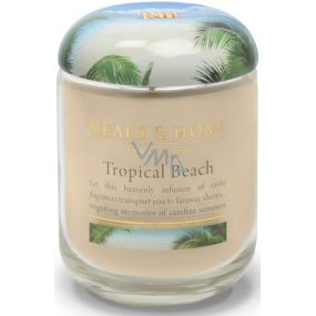 Heart & Home Tropical beach Soy scented candle big burns up to 70 hours 310 g
