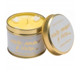 Bomb Cosmetics White amber and musk Scented natural, handmade candle in a tin can burns for up to 35 hours