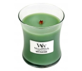 WoodWick White Willow Moss - Willow and Moss Scented Candle with Wooden Wick and Lid Glass Medium 275 g